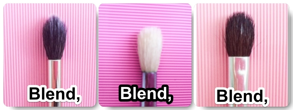Blending brushes, eyeshadow brush