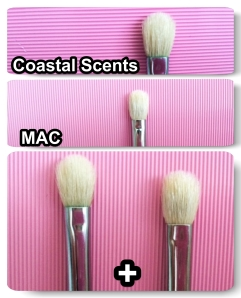 MAC 217, Coastal Scents Pro Fluff brush, Eye shadow brush