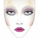 Inglot face chart, Valentine 2014, Inglot ad